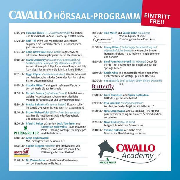 CAV Academy Programm Hörsaal