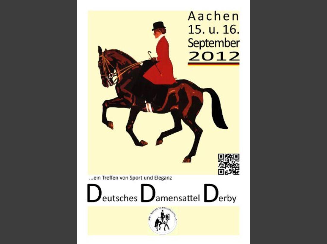 CAV Erstes Deutsches Damensattel Derby 2012 Poster