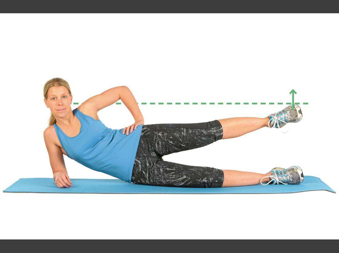 CAV Kastner Motion Serie 02 - Übung 9 Bein liegend seitlich anheben